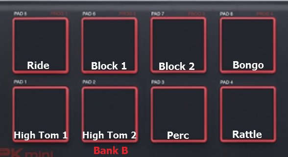 MPK Mini Pads Map B