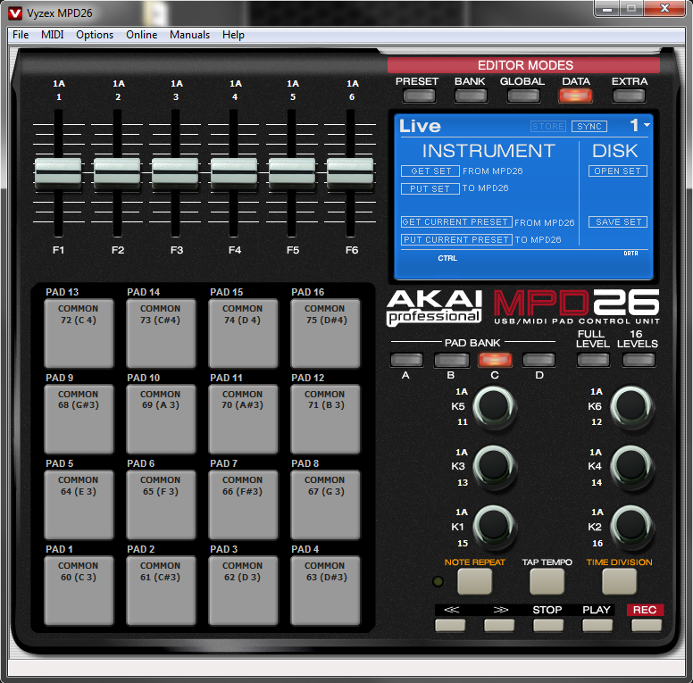 akai professional akai mpd series using the vyzex preset editor rh akaipro com Word Manual Guide User Guide Template